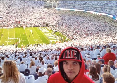 Isaiah at the PSU/Ohio State Game