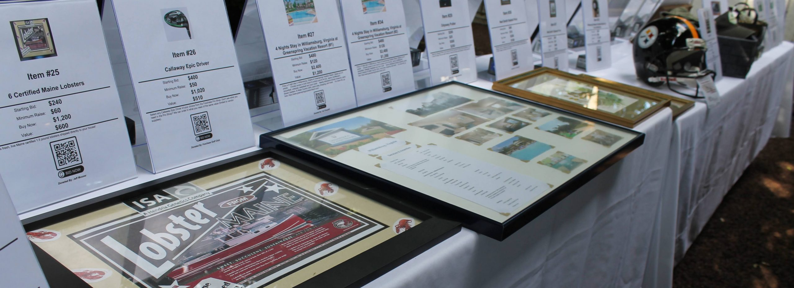 2021 Golf Classic Auction Table